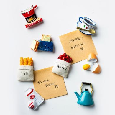 摩登主婦個性創意冰箱磁性貼卡通可愛磁鐵吸鐵石立體裝飾品磁力貼
