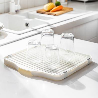 摩登主婦家用創意廚房瀝水盤多功能托盤客廳茶盤點心盤收納置物架
