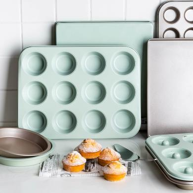 摩登主妇 6/12连模甜甜圈马苏蛋糕模DIY烤箱披萨模具烘焙工具器具