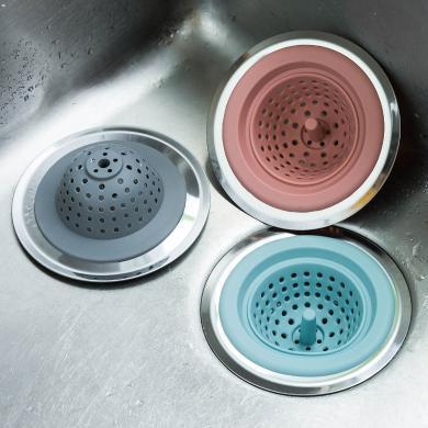 摩登主婦水槽過濾網廚房家用下水道防堵神器洗碗池硅膠菜渣過濾器