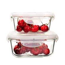 方形鋼化玻璃保鮮盒 微波爐飯盒 冷藏收納碗 便當盒 保鮮碗