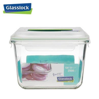 Glasslock 韓國進口手提鋼化玻璃飯盒微波爐冰箱保鮮盒密封盒MHRB250/2.5L