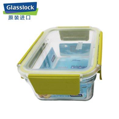 Glasslock韓國進口耐熱鋼化玻璃飯盒微波爐保鮮盒密封盒1020ml可拆卸蓋i1020ML