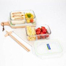 Glasslock韩国进口分隔耐热玻璃 保鲜盒饭盒微波炉 920mlMCRK-092