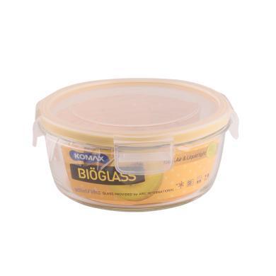 韓國KOMAX進口雙重玻璃保鮮盒圓型保鮮碗微波爐專用便當盒飯盒