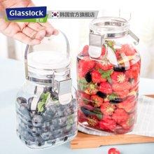 Glasslock 韩国进口酿酒杂粮密封罐会呼吸的玻璃储物罐小号2000ml