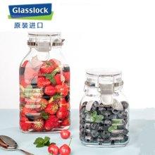 Glasslock 韩国进口酿酒杂粮密封罐会呼吸的玻璃储物罐小号IP634/1000ml