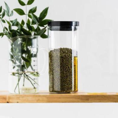 摩登主婦高硼硅玻璃密封罐家用大號雜糧食品茶葉透明收納儲物罐子