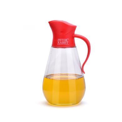 英國比得兔油壺防漏玻璃油壺大號家用醬油罐瓶調料瓶醋壺廚房用品紅色