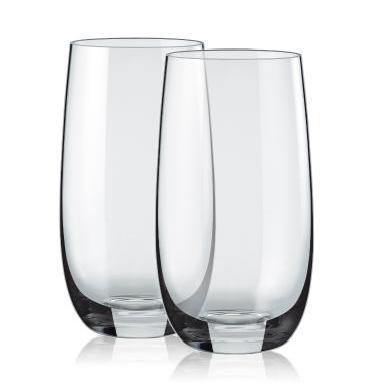 RONA洛娜酷爽水晶水杯2件套RN-Y005K斯洛伐克进口水晶