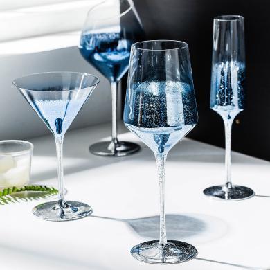 摩登主婦 星空創意紅酒杯水晶玻璃葡萄酒杯香檳杯雞尾酒杯高腳杯