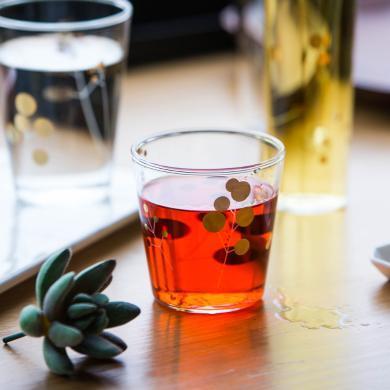 摩登主婦 創意金點玻璃杯家用玻璃杯子酒杯啤酒杯洋酒杯威士忌杯
