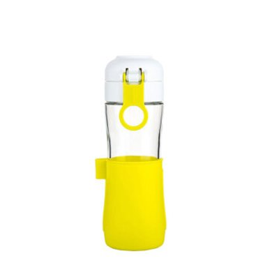 GlassLock玻璃杯玻璃水杯带盖车载便携杯子过滤花茶杯可爱果汁杯IJ937B