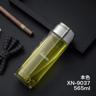 希諾玻璃杯 大容量水杯玻璃杯單層杯子便攜創意男士茶杯帶提環戶外車載杯XN-9037