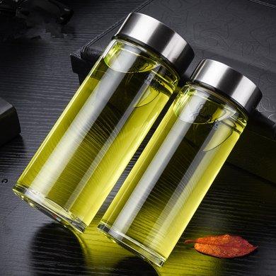 希諾單層玻璃杯加厚帶蓋茶水杯水晶杯便攜小杯子玻璃杯隨手杯