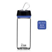 希诺车载杯单层玻璃杯带提绳便携水杯透明创意小巧情侣杯家用茶杯7510