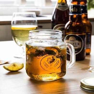 摩登主妇创意玻璃公鸡杯携带茶杯家用带盖带把水杯玻璃杯果汁杯
