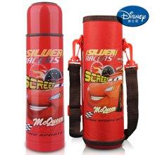 【包邮】迪士尼Disney-旅行保温杯500毫升不锈钢真空水壶男女儿童学生水杯TW3015汽车红