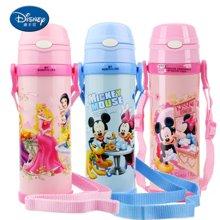 【包郵】迪士尼Disney-保溫杯480毫升高真空雙層健康兒童學生吸管背帶戶外水壺杯子