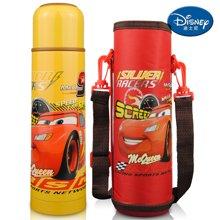 【包邮】迪士尼Disney-旅行保温杯500毫升不锈钢真空水壶男女儿童学生水杯TW3015汽车黄