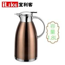 【包邮】宜利客iLike-德莱蒙不锈钢真空保温壶1800毫升大容量保温瓶多用壶LK2302