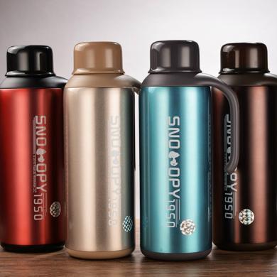 【包郵】SNOOPY史努比 邁克保溫壺1600毫升大容量不銹鋼真空暖水瓶