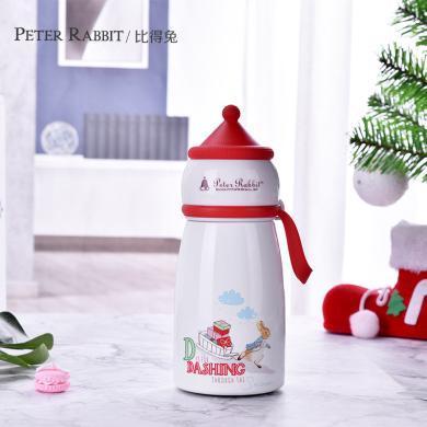 比得兔保温杯圣诞系列304不锈?#30452;?#28201;杯儿童 女可爱保温水壶直身杯