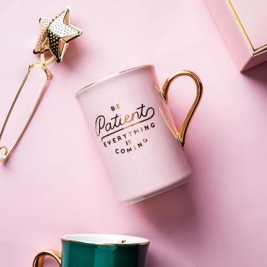 摩登主婦 創意陶瓷馬克杯ins簡約情侶對杯個性潮流咖啡杯