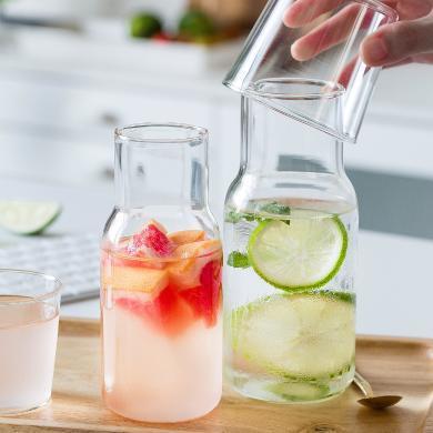 摩登主婦 日式家用涼水壺套裝茶壺創意耐熱防爆大容量玻璃冷水壺