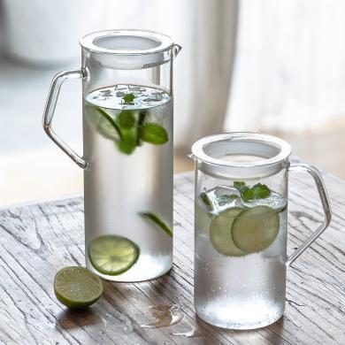 摩登主妇 创意玻璃冷水壶大容量耐高温凉水壶防爆饮料壶家用水壶