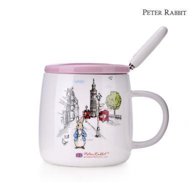 英国比得兔陶瓷马克杯带?#24039;?#28526;流可爱杯子女学生韩版水杯咖啡杯
