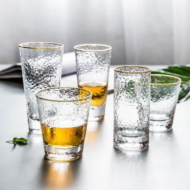 摩登主婦 ins風透明玻璃杯子家用水杯啤酒杯客廳喝水飲料茶杯套裝