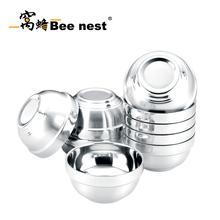 窩蜂雙層碗不銹鋼碗白金碗整盒起賣