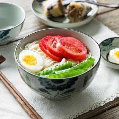 摩登主妇日式太阳花陶瓷餐具家用大号盘子菜盘米饭碗汤碗酱料碟