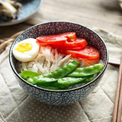 摩登主婦日式和風陶瓷餐具家用米飯碗大號湯碗面碗餐盤菜盤飯勺