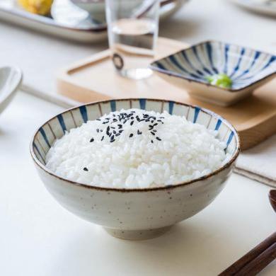 摩登主婦 花火 日式釉下彩雙色陶瓷碗家用米飯碗菜盤子調味碗盤碟