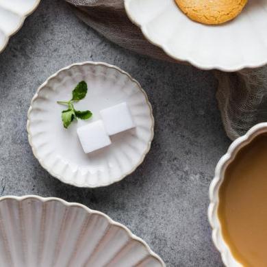 摩登主婦 菊皿 窯變釉陶瓷餐具家用盤子菜盤飯碗味碟西餐盤咖啡杯