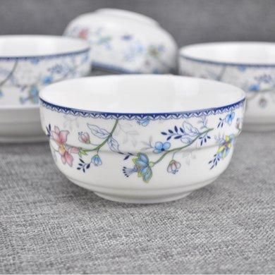 裕行  民族風散瓷 陶瓷餐具釉中彩碗盤碟子瓷器家用高溫無鉛鉻微波爐適用