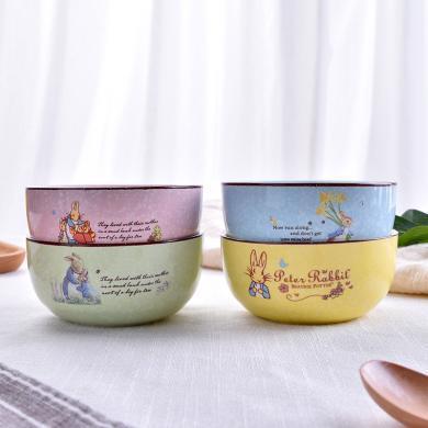 Peter Rabbit 比得兔可愛陶瓷碗餐具套裝日式小米飯碗飯碗家用小湯碗