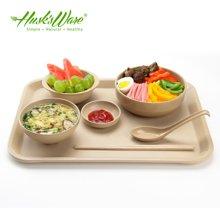 美國HUSKSWARE 餐具托盤 創意環保稻殼茶盤餐盤水果盤長方形
