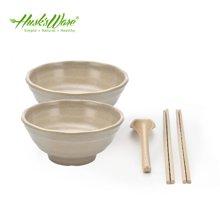 殼氏唯稻殼環保 中式日式創意簡約餐具套裝 碗筷勺子西餐禮品餐具