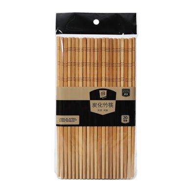 菲爾芙碳化竹筷20雙裝WZK-2957(240mm*6.5mm*3.8mm)