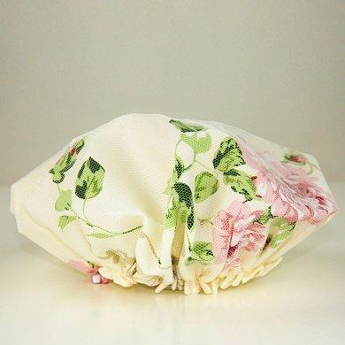 TAYOHYA多樣屋花園玫瑰浴帽進口滌綸防水防霉淋浴帽雙層洗澡帽