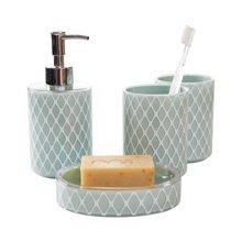 多样屋 TAYOHYA 格蕾莉家居卫生间洗漱浴室用品四件套礼盒装