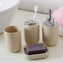 多样屋 TAYOHYA FIN卫浴四件套皂盒漱口杯洗漱套装