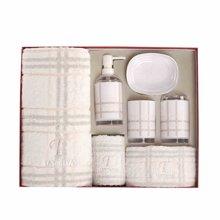 多样屋英格兰面巾卫浴套装礼盒纯棉毛巾进口高级亚克力四件套