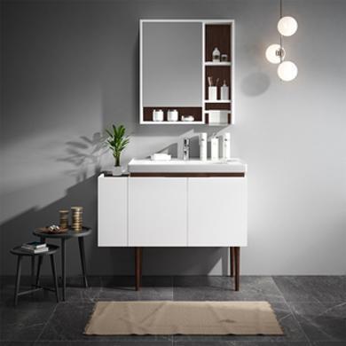 JOMOO九牧简现代落地浴室柜组合卫生间洗漱台洗脸盆柜 A1215