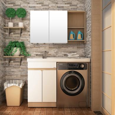JOMOO九牧洗衣机柜伴侣台盆一体组合带搓板洗手盆浴室柜组合A1230