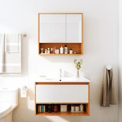JOMOO九牧橡胶木北欧浴室柜组合 洗脸盆洗漱台洗手池A2234