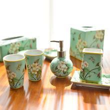 墨菲 手工陶瓷衛浴五件套歐式新古典創意軟裝浴室衛生間洗漱套裝